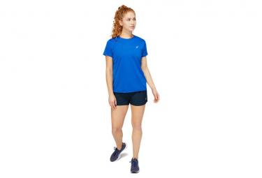 Maillot Manches Courtes Asics Core Run Bleu Femme