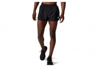 Asics Core Run Split Shorts Schwarz