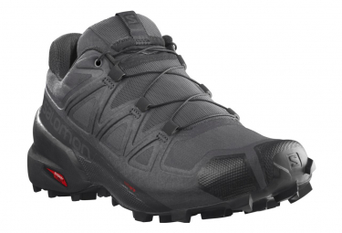 Trail Shoes Salomon Speedcross 5 Gray Black Mens