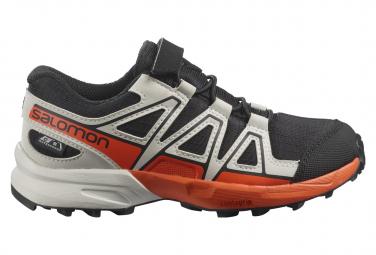Chaussures Enfant Salomon Speedcross CSWP Kid Gris / Orange