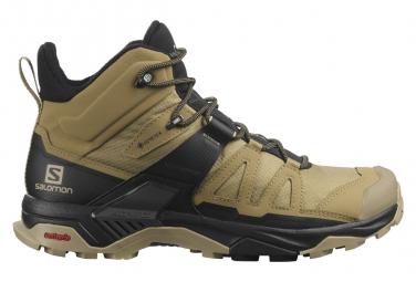 Zapatos De Senderismo Salomon X Ultra 4 Mid GTX Beige Negro Hombre