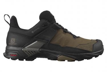 Salomon X Ultra 4 Leather GTX Hiking Shoes Brown Black Mens