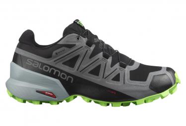 Trail Shoes Salomon Speedcross 5 GTX Gray Green Man