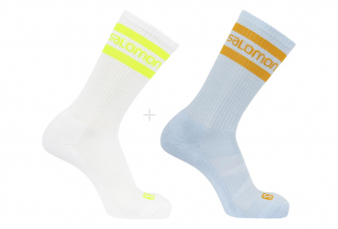 Socks x2 Salomon 365 Crew 2 Pack White Blue Unisex