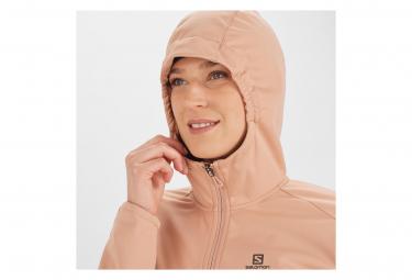 Veste thermique Femme Salomon Softshell WS GTX Rose
