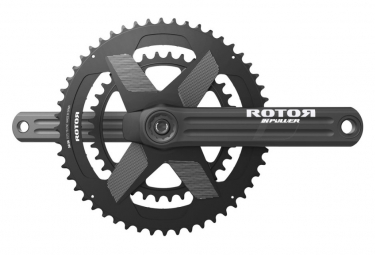 Rotor INpower Round 52 - Juego de bielas con medidor de potencia de 36 dientes, negro