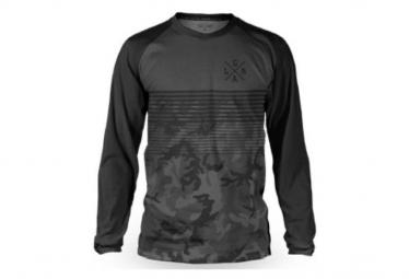 Long Sleeve Loose Riders Basic Camo Jersey Gray