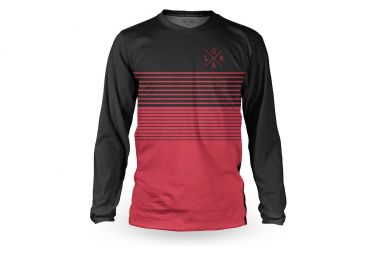 Long Sleeve Loose Riders Basic Stripe Jersey Red