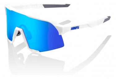 100% - Lenti Lun sol S3 Matte White Hiper Blue Multilayer Mirrors