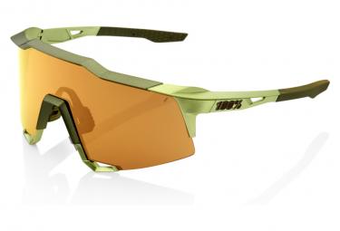 Occhiali 100% Speedcraft verde metallizzato / bronzo