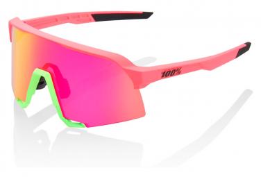 100% S3 Specchio multistrato rosa fluo/viola sbiadito opaco