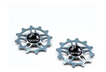 JRC Components Ruedas jockey 12D para SRAM Force / Red AXS Gunmetal