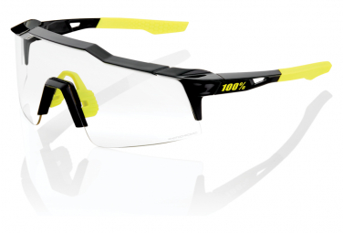 Lunettes 100% Speedcraft SL Gloss Black / Lente fotocromatica