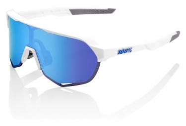 Gafas 100% S2 white blue HiPER Lens