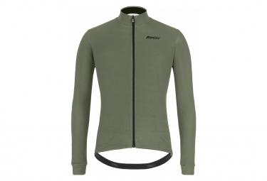 Santini Gravel Long Sleeve Jersey Green