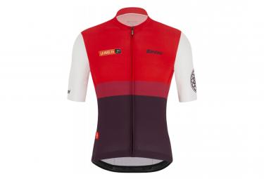 Maillot Manches Courtes Santini Vuelta Burgos Rouge