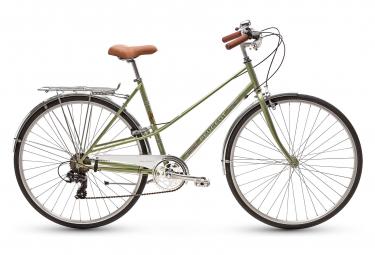 Bicicleta Ciudad Mujer Peugeot LC01 D7 Kaki / Blanc