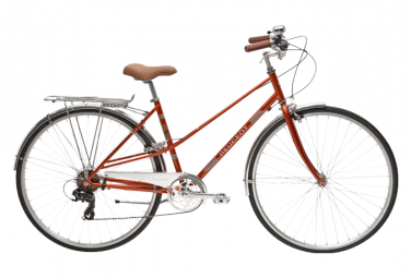 Bicicleta Ciudad Mujer Peugeot LC01 D7 Orange / Blanc