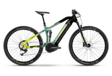 MTB Elettrica Full Suspension Haibike FullNine 6 29'' 630 Wh Shimano Deore 12V Defender Verde/Nero 2021