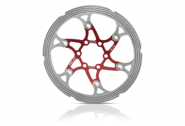 Disco de freno XLC BR-X59 6 agujeros rojo / plateado