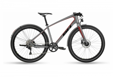 BH Oxford Lite Shimano Deore 10S 700mm Sport City Bike Grey / Red 2021