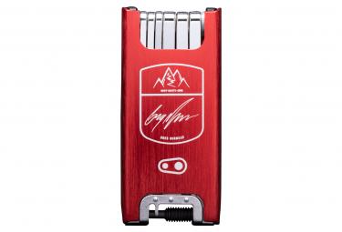 Crankbrothers F15 Minnaar Edition - Mont-Sainte-Anne Multi-Tools 15 Funzioni Rosso