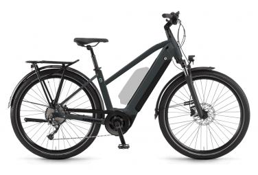 Bicicleta eléctrica de ciudad Winora Sinus 9 Shimano Alivio para mujer, 9 V, 625 Wh, 650b, gris, 2021