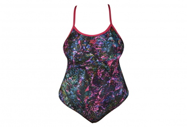 Women's Arena Mountains Texture Light Drop Back One-Piece Swimsuit Plus Size