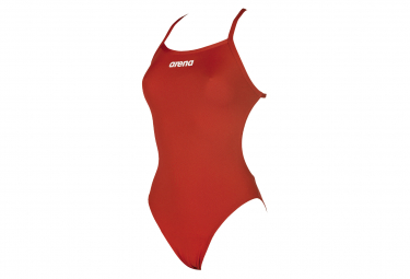 Women's Arena Solid Light Tech High One-Piece Swimsuit Red