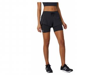 Short 2-en-1 Femme New Balance Impact Run Noir