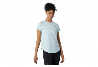 Maillot Manches Courtes Femme New Balance Accelerate Bleu