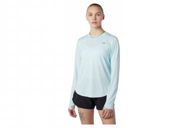 Maillot Manches Longues Femme New Balance Accelerate Bleu