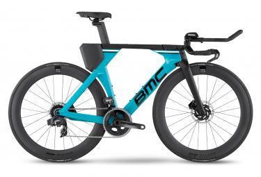 BMC Timemachine 01 Disc One Bicicletta da Triathlon Sram Force eTap AXS 12V 700 mm Turchese Nero 2022