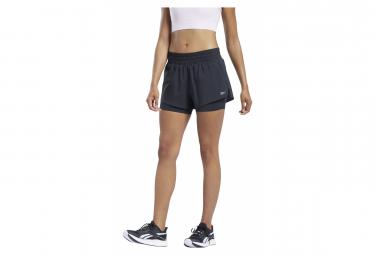 Short 2-en-1 Femme Reebok Workout Noir