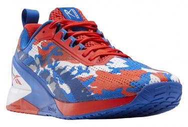 Chaussures d'Halterophilie Reebok Nano X1 Bleu / Rouge