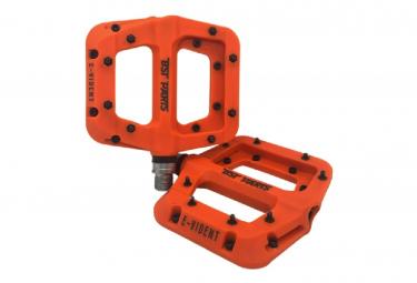 Paire de Pédales Plates BST Parts E-Vident Orange