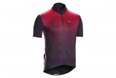 Triban RC500 Short Sleeve Jersey Bordeaux / Black
