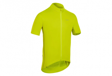 Maillot Manches Courtes Triban RC500 Jaune Fluo