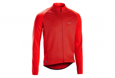 Triban RC100 Long Sleeve Jersey Red