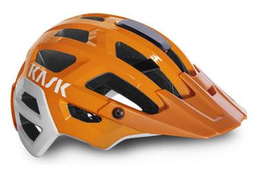Casque Kask Rex Orange / Blanc