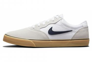 Chaussures Nike SB Chron 2 Blanc Gris Beige