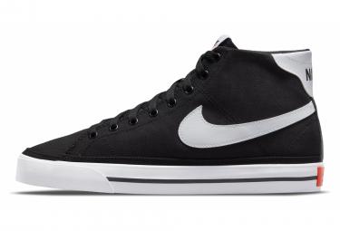 Chaussures Nike Court Legacy Canvas Mid Noir Blanc