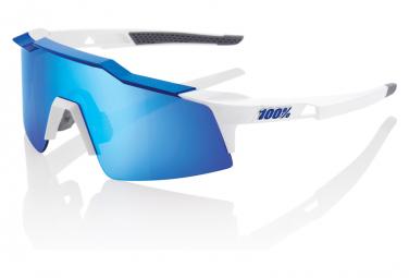 Occhiali da sole 100% Speedcraft SL Matte White / Hiper Blue Mirror + Lenti trasparenti