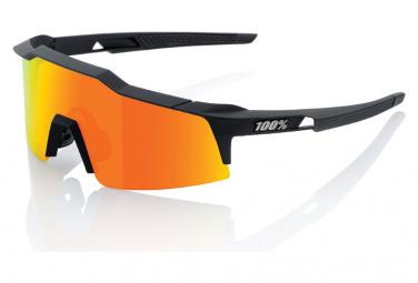 Occhiali da sole 100% Speedcraft SL Nero / Rosso Hiper Mirror + Lenti trasparenti