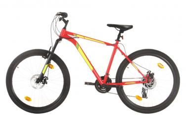 vidaXL Vélo de montagne 21 vitesses Roues de 27,5 pouces 42 cm Rouge
