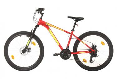 vidaXL Vélo de montagne 21 vitesses Roues de 27,5 pouces 38 cm Rouge