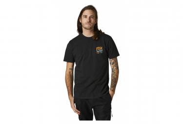 T-Shirt Fox Pushin Dirt Premium Noir
