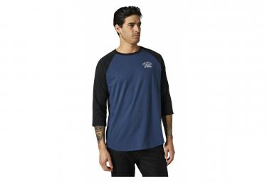 T-Shirt Fox Original Speed 3/4 Raglan Bleu