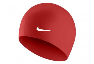 Bonnet de Bain Nike Swim Solid Silicone Training Rouge