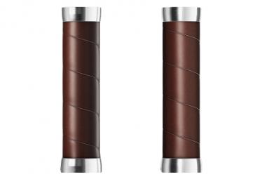 Paire de Grips Brooks England Slender Leather Grips 130 mm Marron